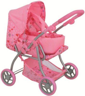 Коляска для кукол Buggy Boom Infinia, светло-розовая