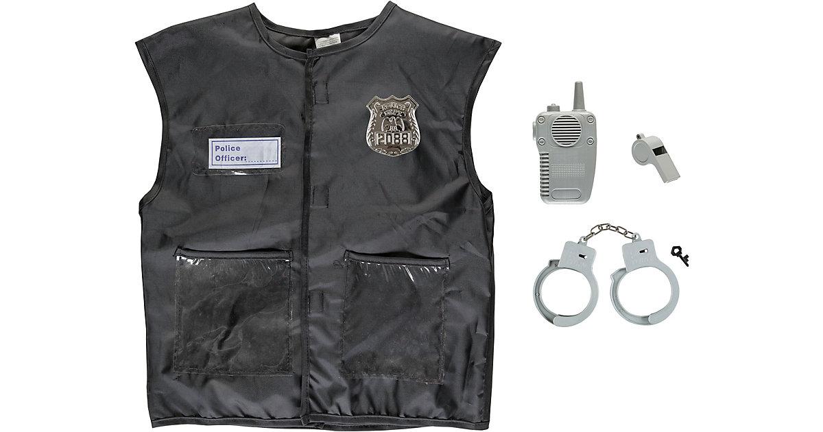 Kinderkostüm-Set Polizei, 4-tlg. Jungen Kinder