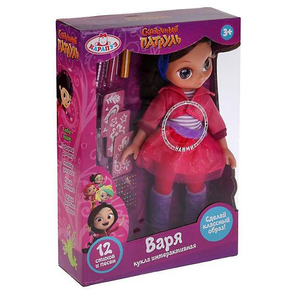 """Кукла Карапуз """"Сказочный патруль"""" Варя с набором волос, 33 см"""