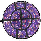 Тюбинг Hubster Люкс Pro Бабочки фиолетовые (80см)