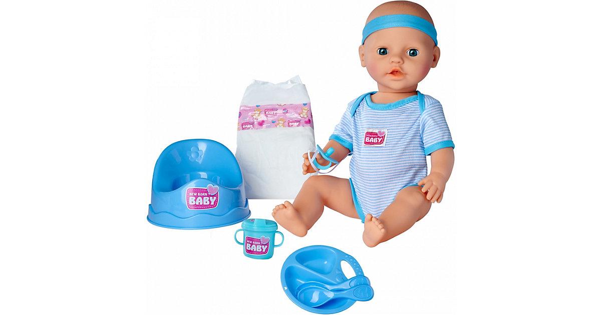New Born Baby Junge mit Schlafaugen, 43 cm, Babypuppe