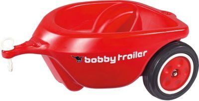 Big Bobby Car Anhänger Rot Mit Anhängerkuplung Spielzeug