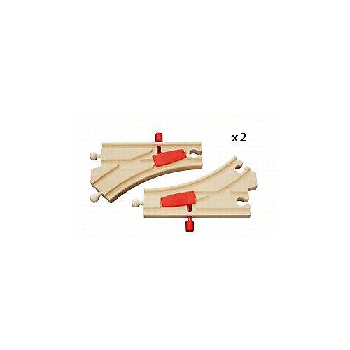 Ж/д полотно BRIO с переключателем направления, 2 детали от BRIO
