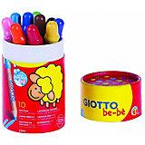 "Набор цветных карандашей Giotto be-be ""Super Largepencils"", в пенале-тубусе"