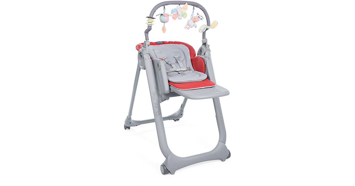 Chicco · Hochstuhl Polly Magic Relax mit 4 Rollen, Scarlet