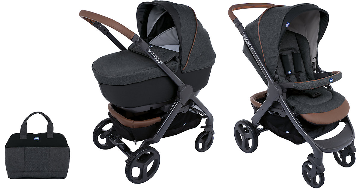 Chicco · Kombi Kinderwagen Duo Stylego Up Crossover Wheels, Graphite, 2019