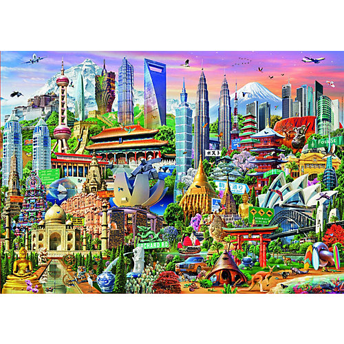 """Пазл Educa """"Достопримечательности Азии"""", 1500 элементов от Educa"""