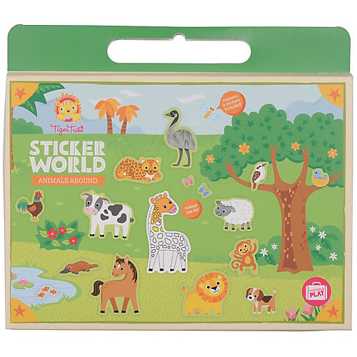 "Набор для творчества с наклейками Tiger Tribe ""Царство животных"" от Tiger Tribe"