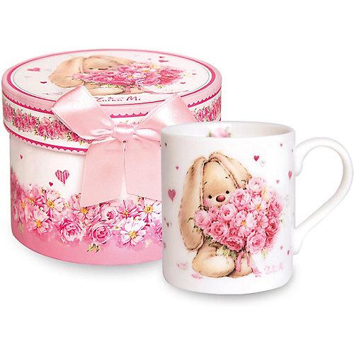 Кружка Budi Basa Зайка Ми с букетом - розовый от Budi Basa