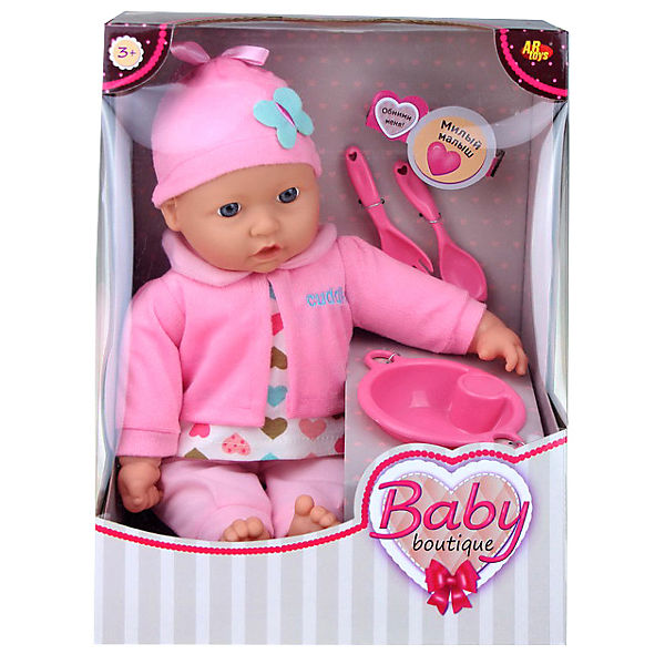 Кукла ABtoys Baby boutique, 40 см, с посудой