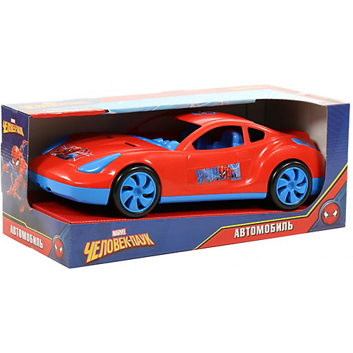 """Автомобиль Marvel """"Мстители. Человек-Паук"""" , красный от Полесье"""
