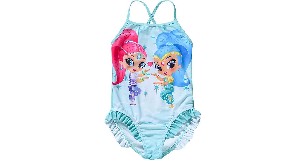 Shimmer und Shine Kinder Badeanzug mit UV-Schutz hellblau Gr. 92/98 Mädchen Kleinkinder
