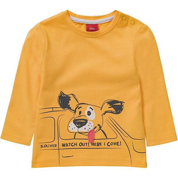5bb576ea09fa Baby Langarmshirt mit Stickerei für Jungen, s.Oliver   myToys