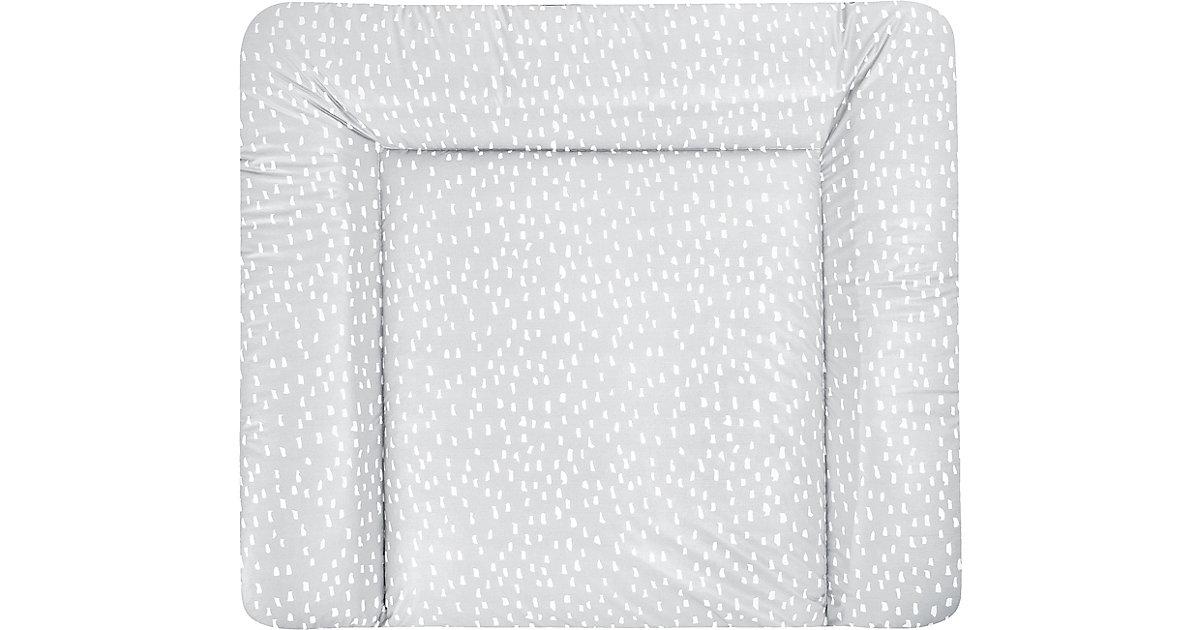ZÖLLNER · Wickelauflage Softy, Tiny Squares Grey, 75 x 85 cm