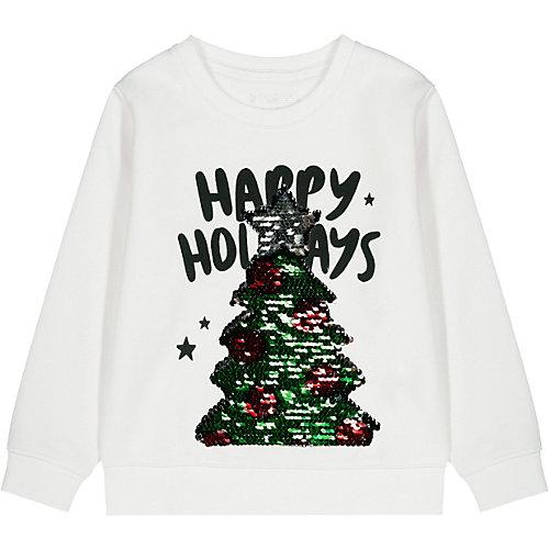 Weihnachtspullover , Wendepailletten Gr. 116/122 Mädchen Kinder   04061708234711