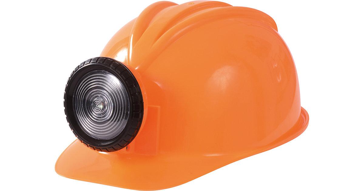Bauhelm mit Lampe orange Jungen Kleinkinder
