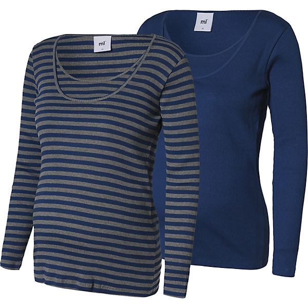 MLLOU ORG. RIB NELL MIX LS TOP NF 2 - Umstandsshirts - weiblich