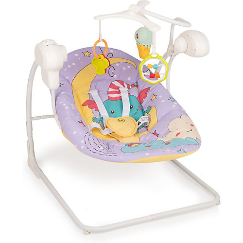 Кресло-качели Happy Baby Jolly V2, фиолетовый от Happy Baby