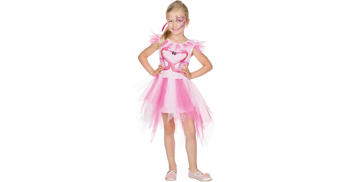 Kostüm Flamingo pink/weiß Gr. 104 Mädchen Kleinkinder