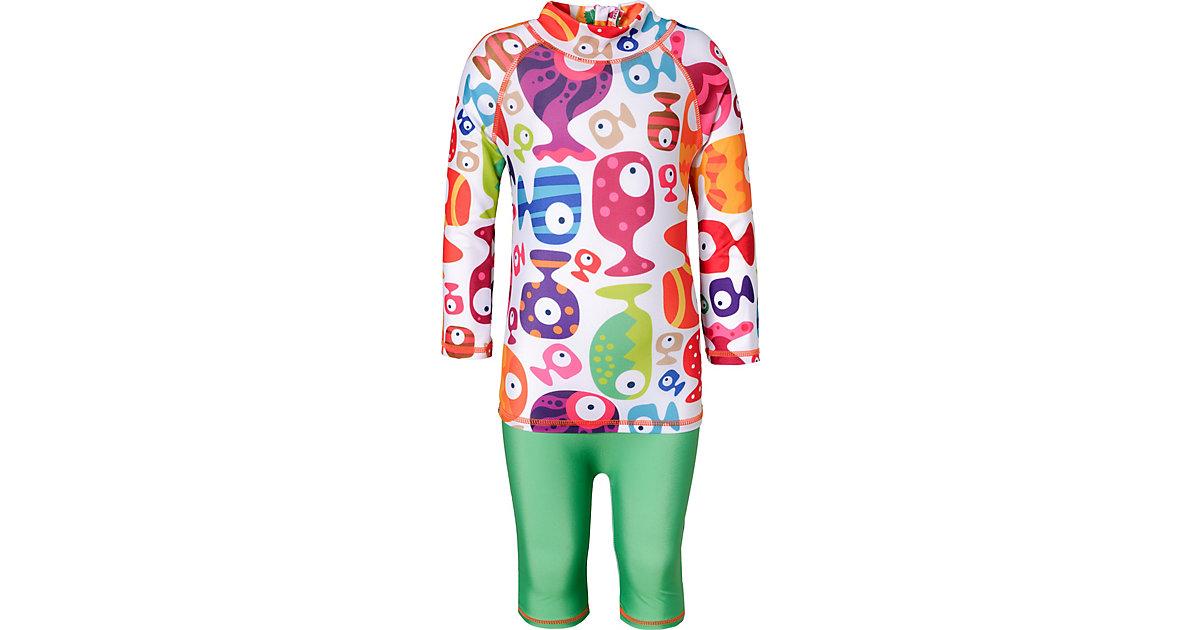 Baby Schwimmanzug FUNNY FISH mit UV-Schutz weiß Gr. 86/92
