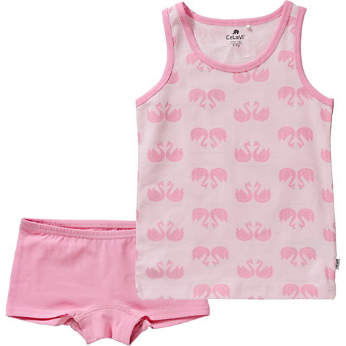 CeLaVi Kinder Unterwäsche Set: Unterhemd + Unterhose Gr. 128 Mädchen Kinder | 05712672693712