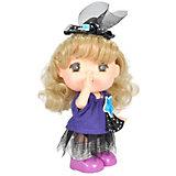 "Мини-кукла Lotus ""Mademoiselle GeGe"" в фиолетовой кофте, 15 см"