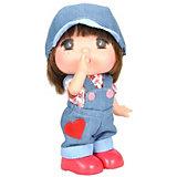 """Мини-кукла Lotus """"Mademoiselle GeGe"""" в джинсовом комбинезоне, 15 см"""