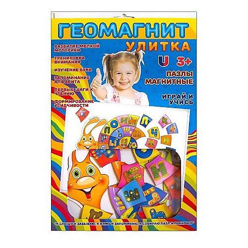 "Магнитный пазл Геомагнит ""Алфавит-улитка"" от Геомагнит"