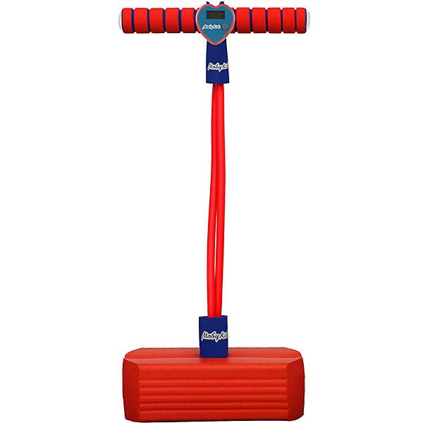 Тренажер для прыжков Moby-Jumper со счетчиком, светом и звуком, красный