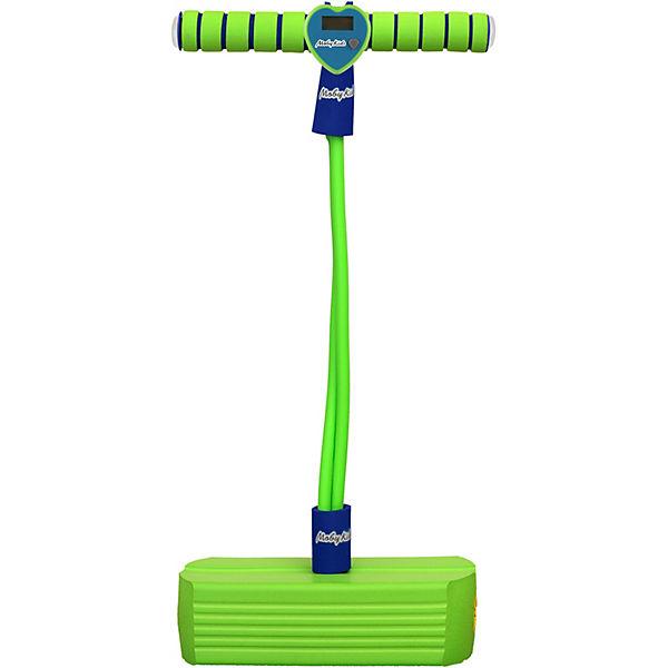 Тренажер для прыжков Moby-Jumper со счетчиком, светом и звуком, зеленый