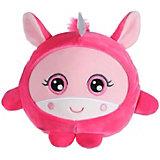 """Мягкая игрушка 1toy """"Squishimals"""" Розовый единорог, 20 см"""