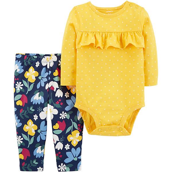 Комплект: Боди и брюки Carter's для девочки