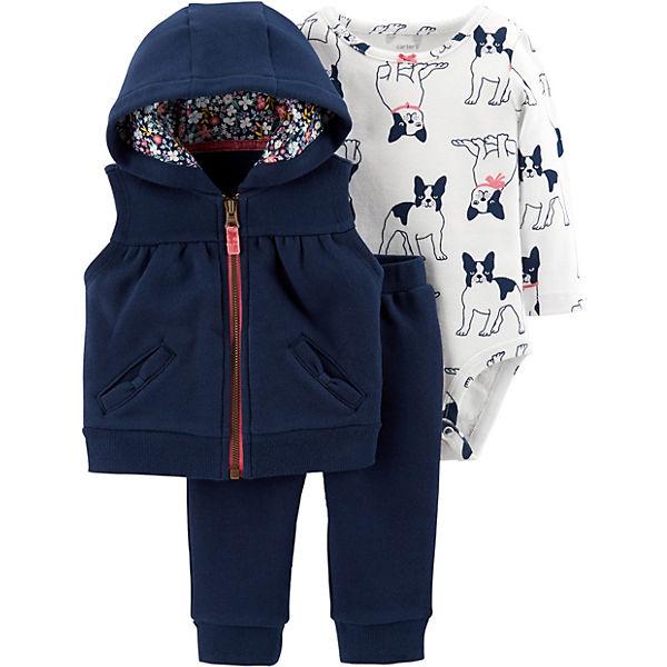 Комплект: Жилет, боди и брюки Carter's для девочки