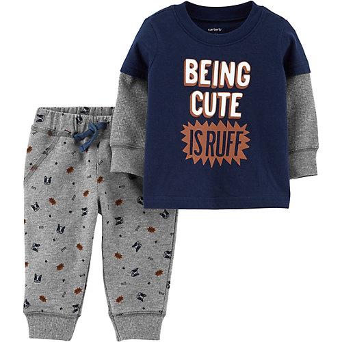 Комплект Carter's: свитшот и брюки - темно-синий от carter`s