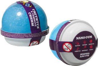 """Жвачка для рук Волшебный мир """"Nano gum"""" светится в темноте синим, 25 гр"""