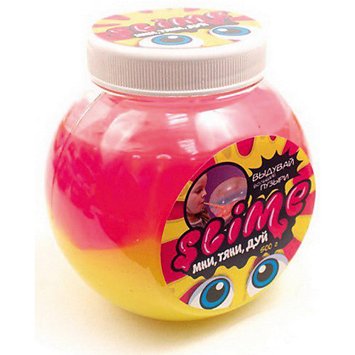 Лизун Slime Mega Mix, розовый и жёлтый, 500 г от Slime