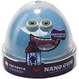 Жвачка для рук Slime Nano gum светится в темноте синим, 50 гр