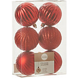 Набор ёлочных шаров  House of Seasons 6 шт., красные