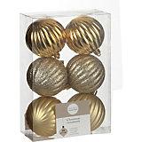 Набор ёлочных шаров  House of Seasons 6 шт., золотые