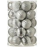 Набор ёлочных шаров  House of Seasons 34 шт., серебряные