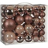Набор ёлочных шаров  House of Seasons 46 шт., розовые