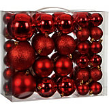 Набор ёлочных шаров  House of Seasons 46 шт., красные