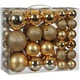 Набор ёлочных шаров  House of Seasons 46 шт., золотые