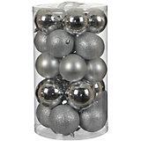 Набор ёлочных шаров  House of Seasons 23 шт., серебряные