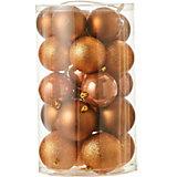 Набор ёлочных шаров  House of Seasons 23 шт., коричневые