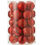 Набор ёлочных шаров  House of Seasons 34 шт., красные