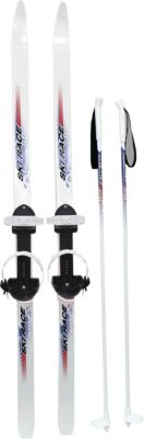 """Лыжи подростковые """"Ski Race""""140/105 см, унив.крепление """"Цикл"""", с палками"""