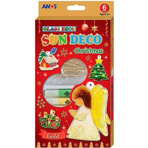 """Набор витражных красок Amos """"Новогодний №1"""" с витражами от Amos"""
