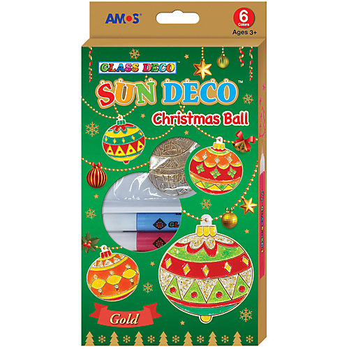 """Набор витражных красок Amos """"Новогодний №3"""" с витражами от Amos"""