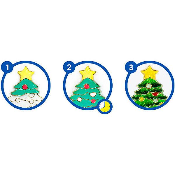 """Набор витражных красок Amos """"Новогодний №2"""" с витражами"""